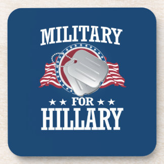 MILITARY FOR HILLARY DRINK COASTER