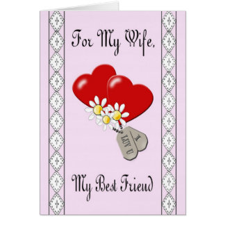 "Military ""For My Wife"" Anniversary Card"