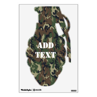 Military Forest Camouflage - Military Shape Wall Decal