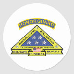 MILITARY FUNERAL HONOR GUARD ROUND STICKER