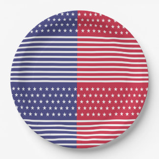 Military Gathering Veterans Day Party Paper Plates 9 Inch Paper Plate