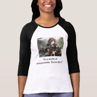 Military girl, anime tshirts