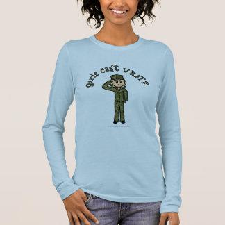 Military Girl - Blonde Long Sleeve T-Shirt