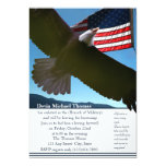 """Military Going Away Party 5"""" X 7"""" Invitation Card"""