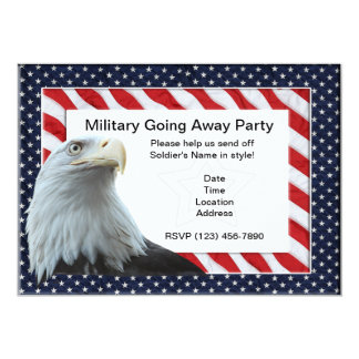Military Going Away Party Invitations