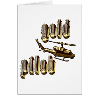 Military gold pilot greeting card