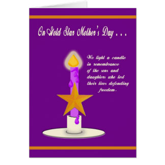Military Gold Star Mother's Day Card