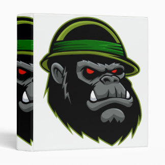 Military Gorilla Head Vinyl Binder