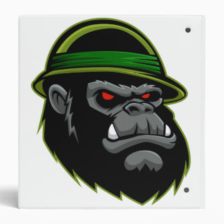 Military Gorilla Head Vinyl Binders