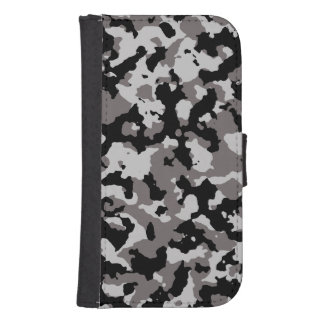 Military Gray Camouflage Pattern Phone Wallets