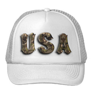 military green america - usa trucker hat