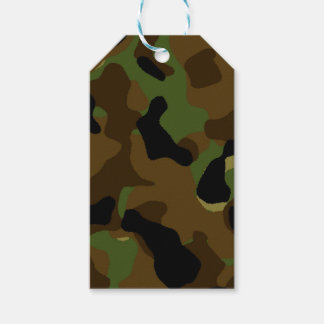 Military Green Army Camo Camouflage Pattern Gift Tags