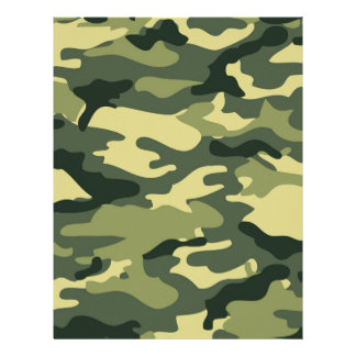 Military Green Camo Customized Letterhead