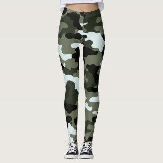 Military Green Camo Leggings