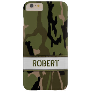 Military Green Camo Name Template Barely There iPhone 6 Plus Case