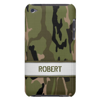 Military Green Camo Name Template Barely There iPod Cover