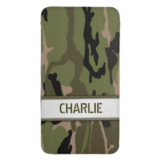Military Green Camo Name Template Galaxy S4 Pouch