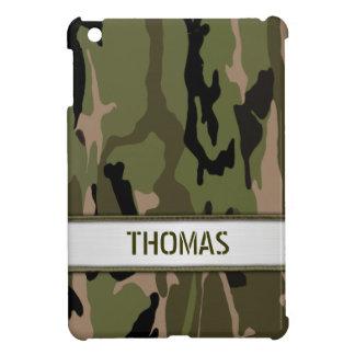 Military Green Camo Name Template Cover For The iPad Mini