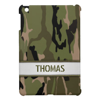 Military Green Camo Name Template iPad Mini Covers