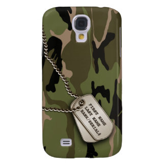Military Green Camo w/ Dog Tag
