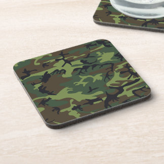 Military Green Camouflage Coasters