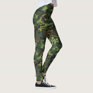 Military Green Camouflage Leggings