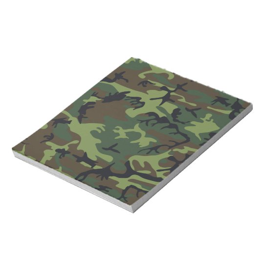 Military Green Camouflage Notepad