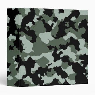 Military Green Camouflage Pattern Binder