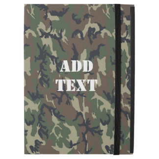 "Military Green Camouflage Pattern iPad Pro 12.9"" Case"