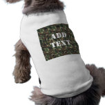 Military Green Camouflage Pattern Pet T-shirt