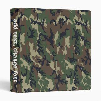 Military Green Camouflage Pattern Vinyl Binders