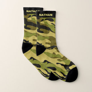 Military Green Camouflage Personalized Name 1