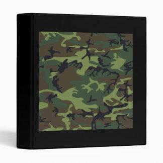 Military Green Camouflage Vinyl Binders