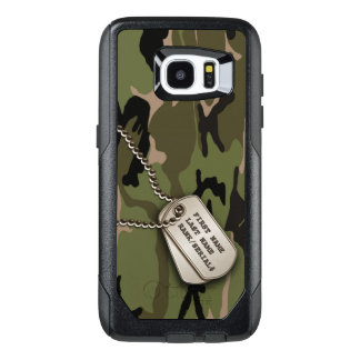 Military Green Camouflage with Dog Tags OtterBox Samsung Galaxy S7 Edge Case