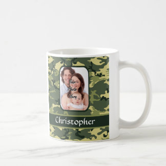 Military Green woodland camouflage Coffee Mug