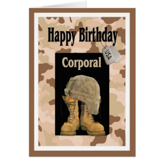 Military Happy Birthday Card