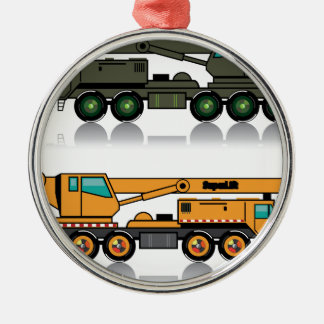 Military heavy crane truck metal ornament