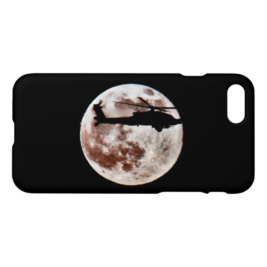 Military Helicopter Against the Moon at Night iPhone 8/7 Case