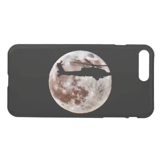 Military Helicopter Against the Moon at Night iPhone 8 Plus/7 Plus Case