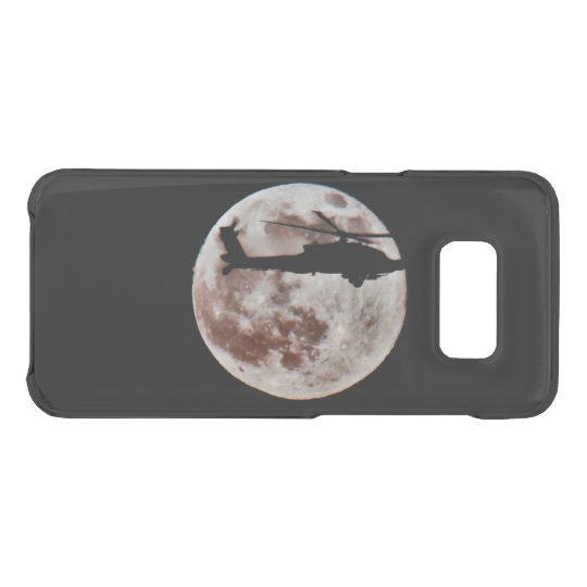 Military Helicopter Against the Moon at Night Uncommon Samsung Galaxy S8 Case