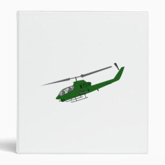 Military Helicopter Vinyl Binder