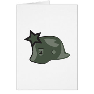 Military Helmet Greeting Card