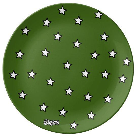 Military Hero Stars! PLATE Porcelain Plate
