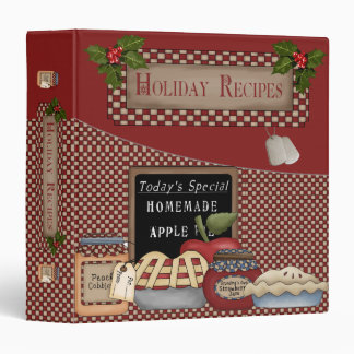 "Military Holiday Recipe 1.5"" Binder"