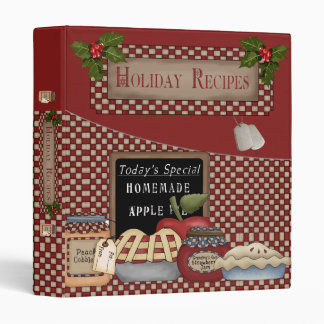 "Military Holiday Recipes 1"" Binder"