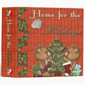 """Military Home For The Holidays 2"""" Photo Album Binder"""