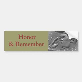 Military Honor Heroes & Veterans Bumper Sticker