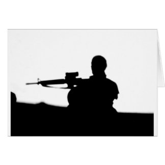 Military Infantry Greeting Card
