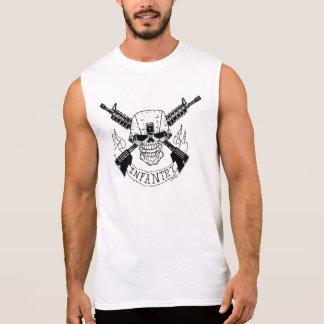 Military Infantry Skull Sleeveless Shirt