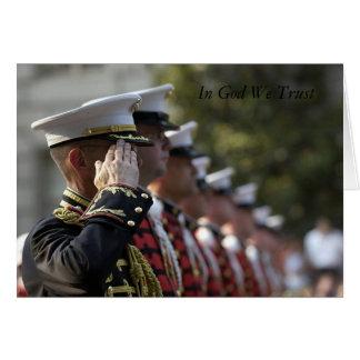 military inspirational card